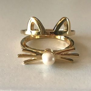 Kate Spade Out West Gold Cat Ring
